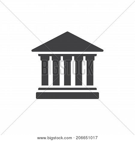 Courthouse icon vector, filled flat sign, solid pictogram isolated on white. Symbol, logo illustration.