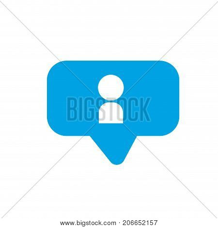 silhouette chat bubble with user icon inside vector illustration