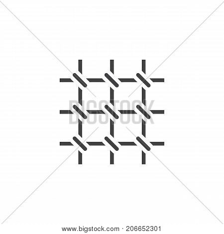 Prison bars icon vector, filled flat sign, solid pictogram isolated on white. Symbol, logo illustration.