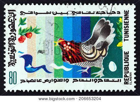 TUNISIA - CIRCA 1982: A stamp printed in Tunisia from the