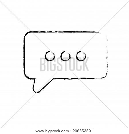 figure chat bubble text message icon vector illustration