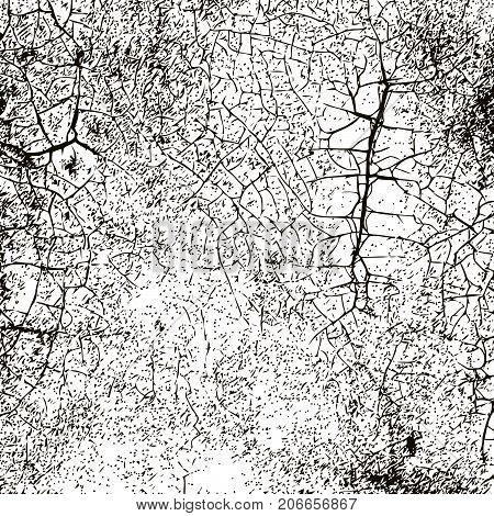 Grunge Black And White Urban Vector Texture Template. Grunge old crack background ,Simply Place illustration over any Object to Create grunge Effect .abstract, dirty, poster for your design.