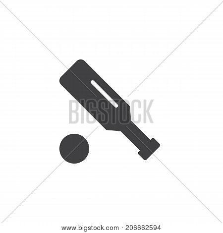 Cricket icon vector, filled flat sign, solid pictogram isolated on white. Symbol, logo illustration.