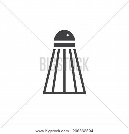 Badminton shuttlecock icon vector, filled flat sign, solid pictogram isolated on white. Symbol, logo illustration.