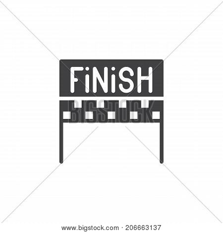 Finish icon vector, filled flat sign, solid pictogram isolated on white. Symbol, logo illustration.