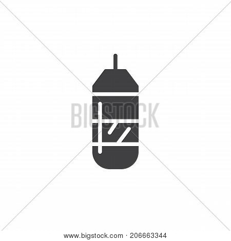 Punching bag icon vector, filled flat sign, solid pictogram isolated on white. Symbol, logo illustration.