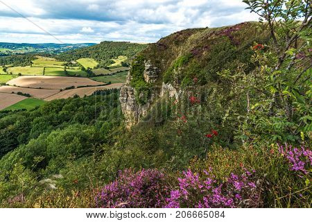 Sutton Bank Landscape view in North Yorkshire Great Britain.
