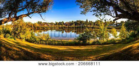 John Lake in downtown of Moncton city, New Brunswick, Canada