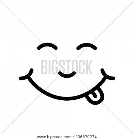 Smiley face icon isolated on white background