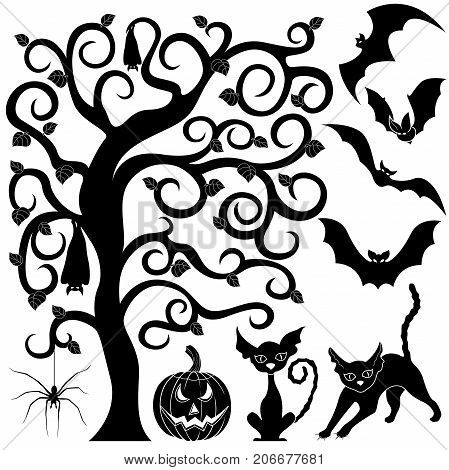 Halloween Black Silhouettes Set