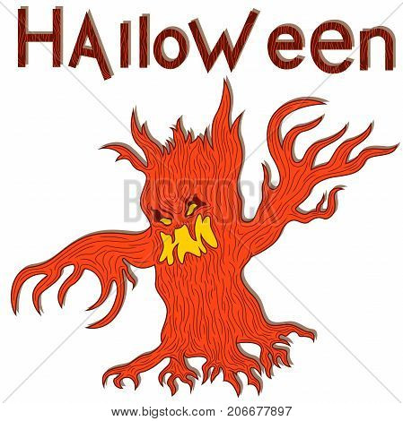 Halloween Aggressive Twisted Tree
