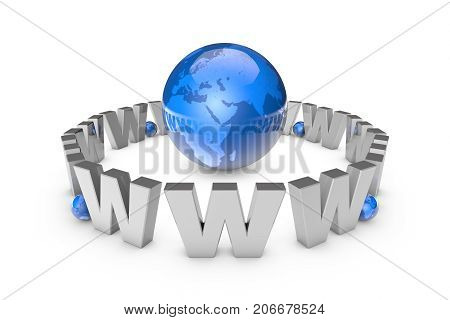 Globalization. International communication system. New information technologies. International Internet addiction (image metaphor). 3D illustration rendering.