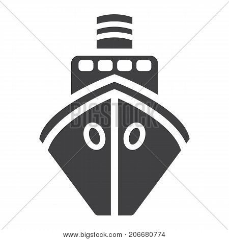 Ship glyph icon, transport and boat, travel sign vector graphics, a solid pattern on a white background, eps 10.