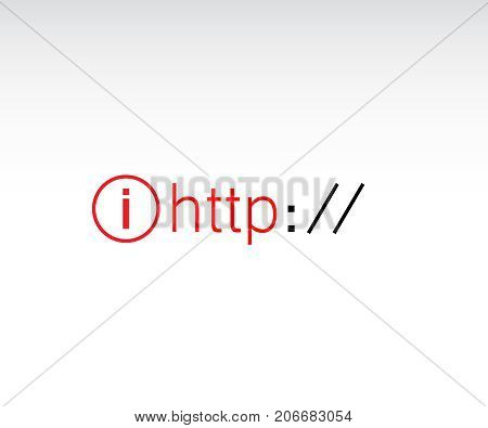 HTTPS Protocol. http https. Browser Address Bar with Http Protocol
