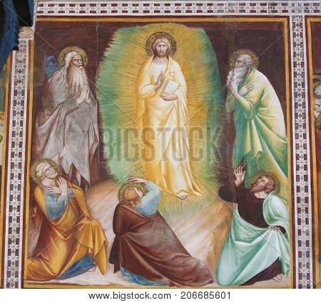 Fresco In San Gimignano - Resurrection Of Jesus