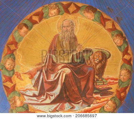 Fresco In San Gimignano - Mark The Evangelist