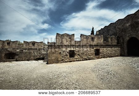 fortifications of the Medieval castle of the Order of the Joannites in the city of Rhodes