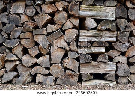 Stacks Of Sawn Korean Woods. Pic Was Taken In August 2017.