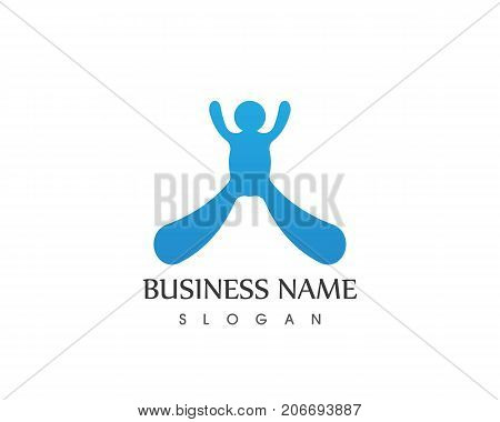 People Water Icon Logo Design Vector Template