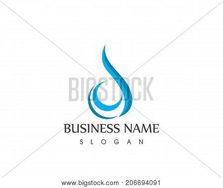 Water Drop Icon Logo Design Vector Template