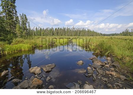 Quiet Route Through the Wetlands in the Boundary Waters of Minnesota
