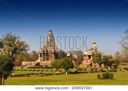 Devi Jagdambi Temple Khajuraho. UNESCO world heritage site. Popular world tourist destination.