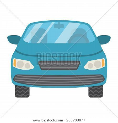 Car flat icon, transport and automobile, sedan sign vector graphics, a colorful solid pattern on a white background, eps 10.
