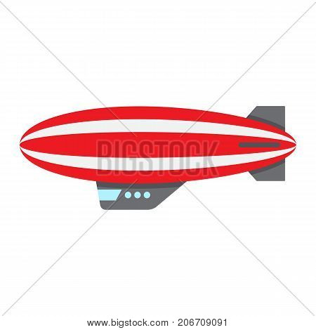 Airship blimp flat icon, transport and air vehicle, sky balloon sign vector graphics, a colorful solid pattern on a white background, eps 10.