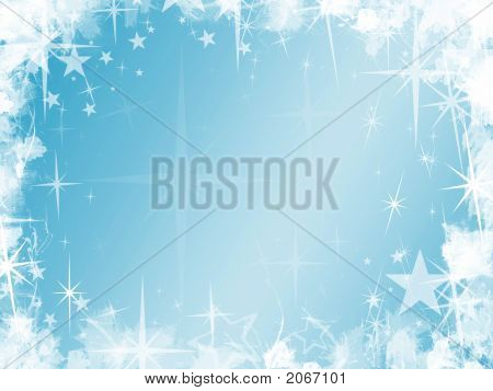 Grunge Blue Star Background