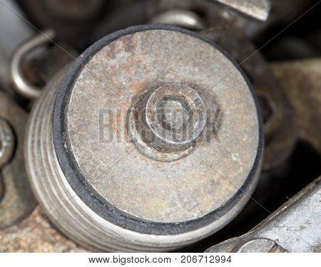 diesel equipment in the car . Photos in the studio