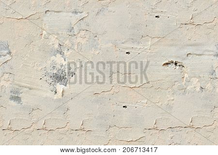 Modern abstract painted beige street stone wall, seamless texture