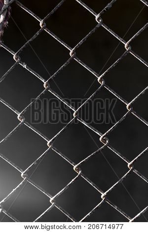 background of old metal grid . Photo of abstract background