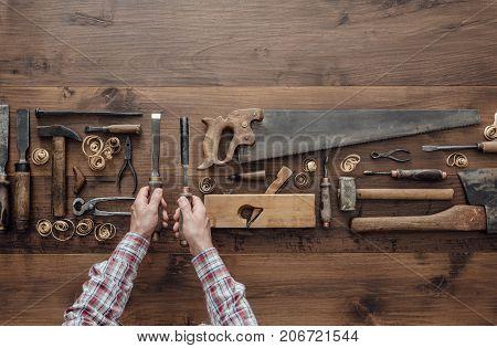 Carpenter Holding Tools