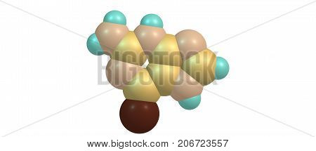 Tioguanine Molecular Structure Isolated On White
