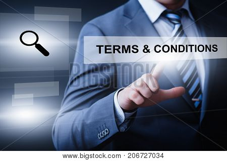 Terms and Conditions Agreement Service Business Technology Internet Concept.