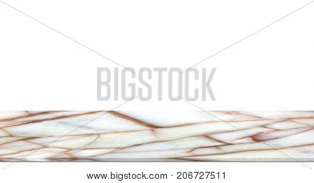 Marble Counter Isolated On White Background.