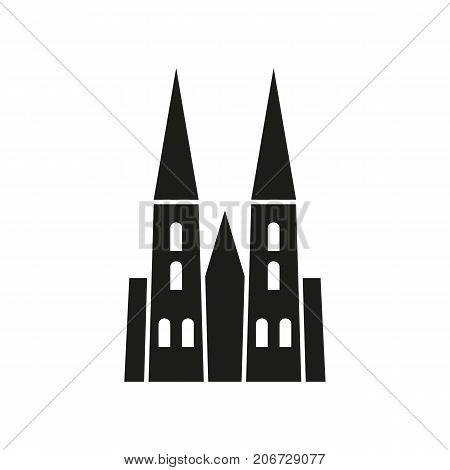 Icon of Cologne cathedral. Church, cathedral, heritage, Landmarks concept. Can be used for topics like construction, sightseeing, architecture