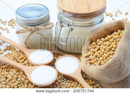 Organic yogurt is made from soy milk.