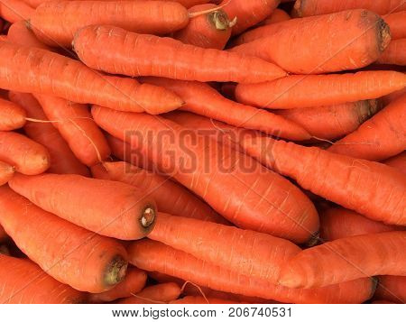 pile of carrots - carrot closeup background