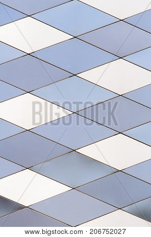 Metal texture background. Abstract architectural pattern. Colored metals plates.