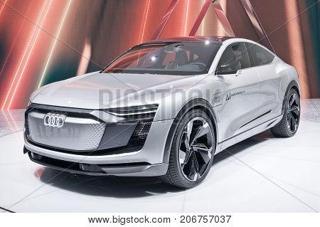 Frankfurt-September 20: Audi Elaine Concept at the Frankfurt International Motor Show on September 20 2017 in Frankfurt