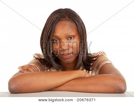 Beautiful and Serious Looking African American Lady poster
