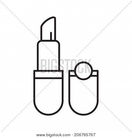 Lipstick linear icon. Thin line illustration. Pomade. Contour symbol. Vector isolated outline drawing