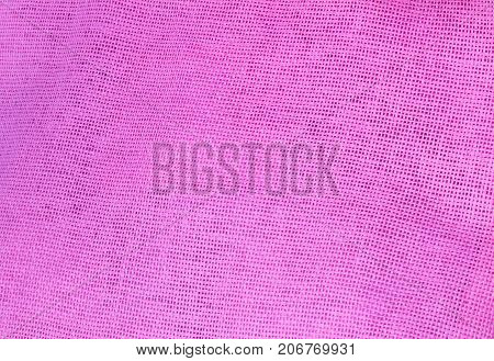 Textile Texture Close Up of Pink Cotton Fabric Texture Pattern Background in Pastel Colors Tone.