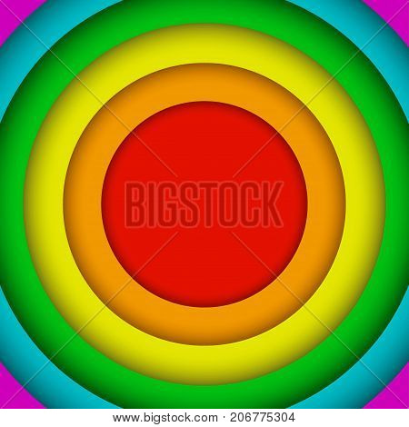 Vector Concentric Circles LGBT Elements Background. Lgbt Rainbow Flag. Gay Circle Colors. Gay Community Symbol. Vector Background.