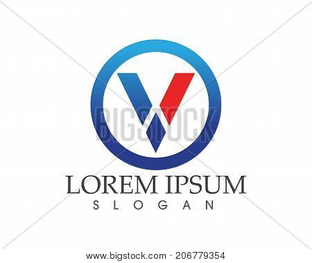 V Letters Business Logo And Symbols Template