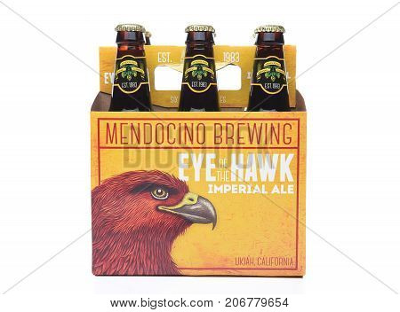 IRVINECA - SEPTEMBER 30 2017: Eye of the Hawk Imperial Ale. From the Mendocino Brewing Company in Ukiah California.