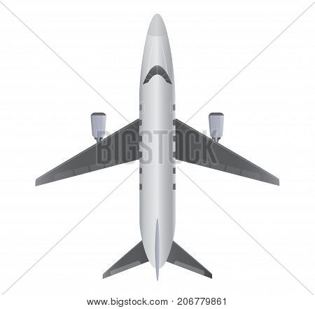 Top View  Of Small Private  Jet Airplane