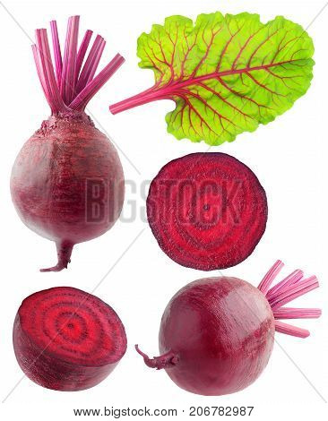 Isolated Beetroot Collection