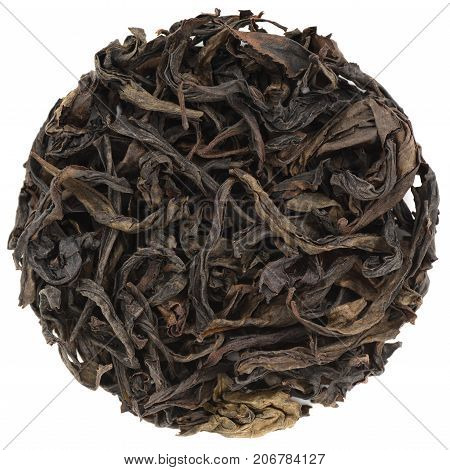 Wu Yi Shan Que She 928 roasted oolong isolated